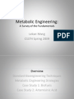 Metabolic Engineering Lecture11