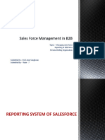 Sales Force Management in B2B