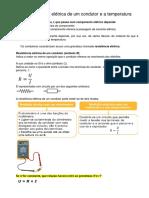 A Resistência elétrica de um condutor e a temperatura.docx