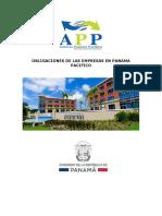 Obligaciones de Las Empresas en Panamá Pacífico