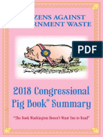 2018 Congressional Pig Book by CAGW