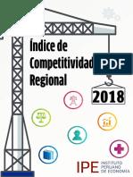 Índice de Competitividad Regional - Incore 2018 - Vf