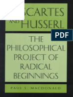 Descartes and Husserl the Philosophical Project of Radical Beginnings