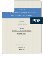 Projeto Teologia e Ciência