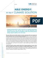 Irena - Renewable Energy, A Key Climate Solution