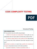 Code Complexity Testing