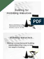 Resource Mobilization Skills Building