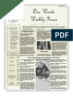 Newsletter Volume 9 Issue 24