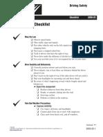 Manejo Defensivo (Check List)