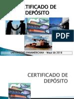 4 CERTIFICADOS DE DEPÓSITO -Mayo 2018.ppt