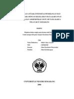 Hubungan Antara as Penerangan Dan Suhu Udara Dengan Kelelahan Mata Karyawan Pada Bagian Administrasi Di PT.hutama Karya Wilayah IV Semarang