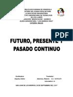 Futuro, Presente y Pasado Continuo