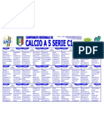 Calendario calcio a 5 serie C1 Molise