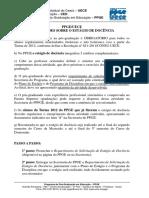 Orientações Sobre o Estágio de Docência – PPGE