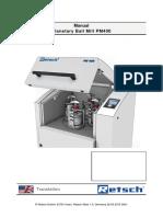 Retsch Mills-Balls PM400 Manual
