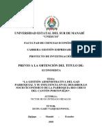 tesis gestion administrativa