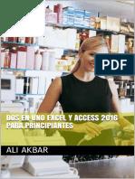 Dos en Uno Excel y Access 2016 Para Principiantes