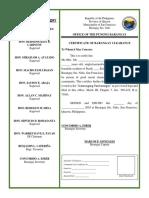 Barangay Clearance Sample