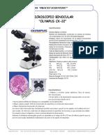 Microscopio Binocular Olympus Cx 22