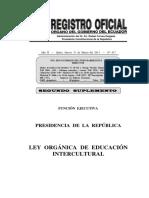 2011 Leyeducacionintercultural Ecu
