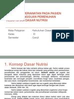 KONSEP DASAR NUTRISI