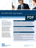 UK I ISO 9001 Gap Datasheet
