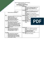 Calendar of Activities TLE