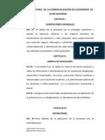 LEY REGULATORIA DE LA COMERCIALIZACIÓN DE SUCEDÁNEOS DE LECHE MATERNA.