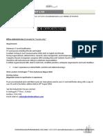 Job Oportunity-Office Admin