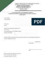 Form Pembimbing Metrologi 2018