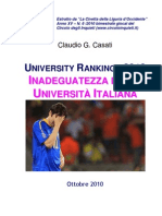 University Rankings 2010 - Inadeguatezza della Università Italiana