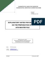 附件2-Explanatory Notes for Industry on the Preparation of a Site Master File-PICS Sep. 2007