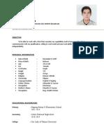 Bansot Resume