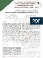 Weaver's Attitude on Implementation of Integrated Handloom Cluster Development Scheme (IHCDS)
