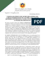 Protesta por Ataques a Scientology Colombia en Medios de Comunicación y Redes Sociales