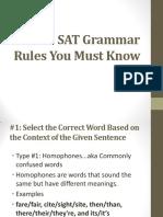 SAT Must Know Grammar Rules