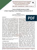 Current Scenario of Health Insurance in India