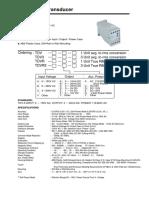 Catalog Transducer TD Kw Ke Ma-Habe Tec