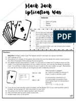 black jack war multiplication  pdf