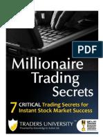 Millionaire Trading Secrets Report