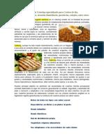 Carta de Presentacion de Catering Menus