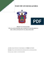 Producto Integrador. Evaluación Integral de Un Proyecto de Desarrollo Del Capital Humano en Una Organización