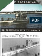 Warship Pictoral 27 - Kriegsmarine Type VII U-Boats