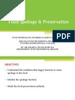 Food Spoilage & Preservation