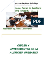 Auditoria Operativa Unidad I - Semana 2