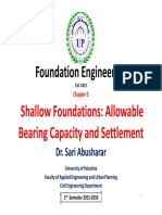 04 Chapter 5_Shallow Foundations-Allowable Bearing Capacity and Settlement-M