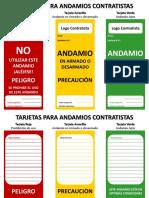 Tarjetas Para Andamios Contratistas SPCC