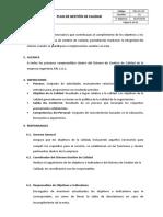 Plan de Gestión de Calidad V01