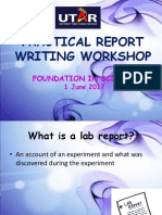 Report Writing Workshop Discussion 201705.1