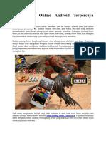 Situs Ayam Online Android Terpercaya Indonesia